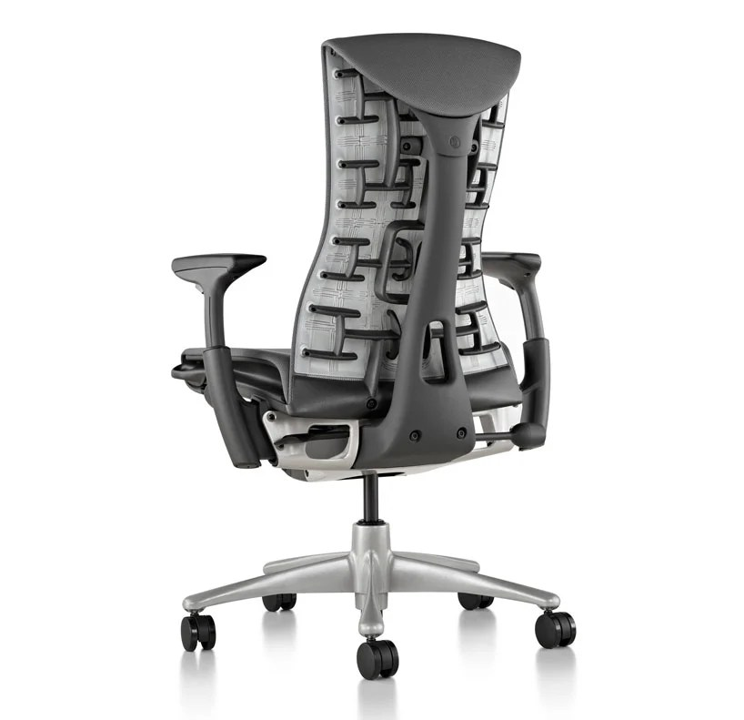 ergonomic chair miller round base embody office by herman