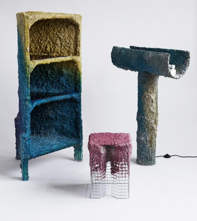 james shaw creates furniture using spray guns
