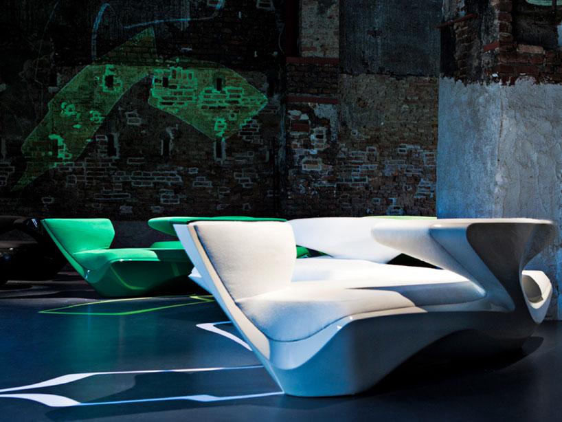 Zaha Hadid Zephyr Sofa For Cassina
