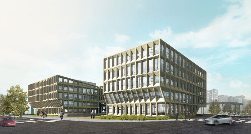 shanghai hongqiao CBD office by LYCS architecture breaks