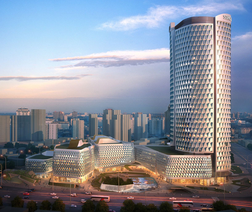 UNstudios SOHO hailun plaza towers over shanghai