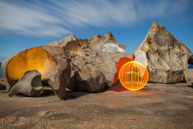 luminous aerial spheres - ball of light by denis smith