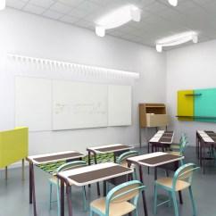 Colorful Wooden Kitchen Chairs Blossom High Chair Studio Brichetziegler + Students Re-design School Furniture