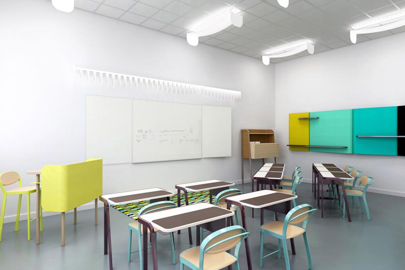 colorful wooden kitchen chairs cheap barber for sale studio brichetziegler + students re-design school furniture