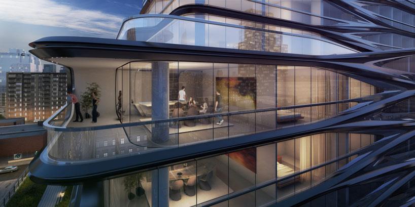 zaha hadid unveils luxury condo along new yorks high line