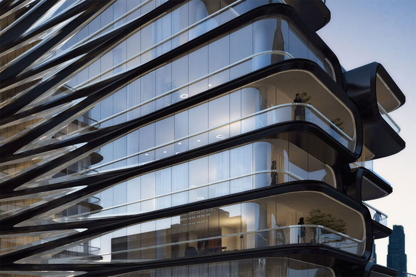 zaha hadid unveils luxury condo along new yorks high line