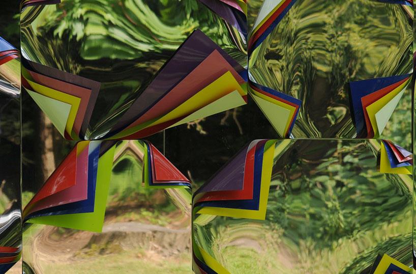 Jim Lambie S Mirrored Shed At Jupiter Artland