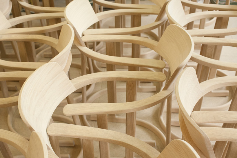 bodleian chairs by barber  osgerby grace oxford
