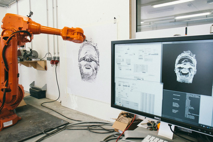 long distance art: robot simultaneously draws in three cities