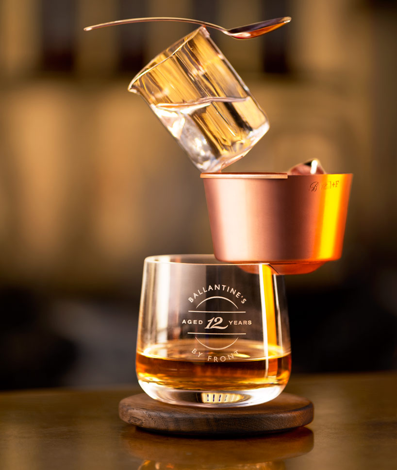 front ballance drinking set for ballantines whisky