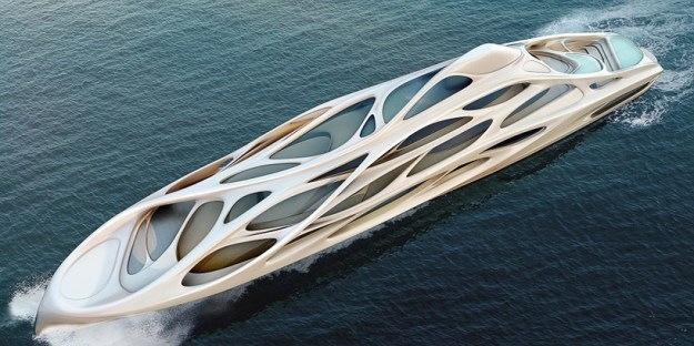zaha hadid designs 128m superyacht for blohm + voss