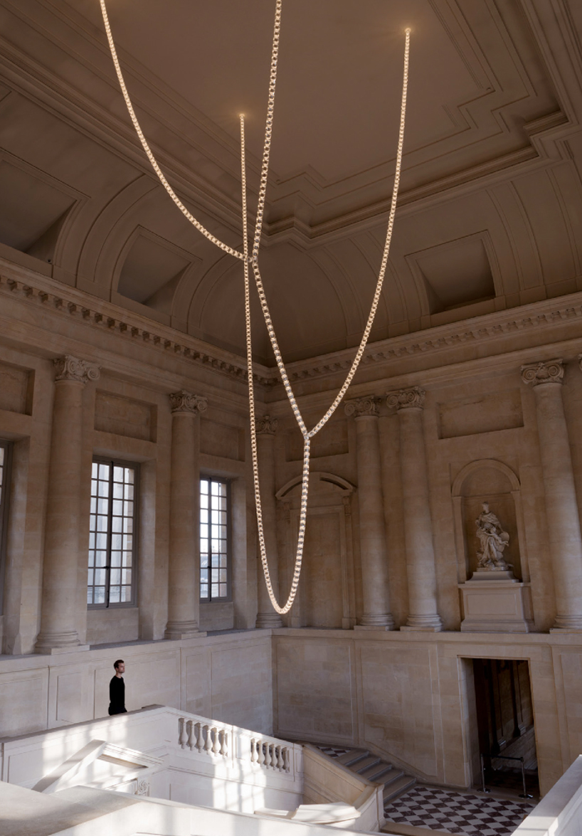 LED swarovski crystal chandelier by ronan  erwan bouroullec