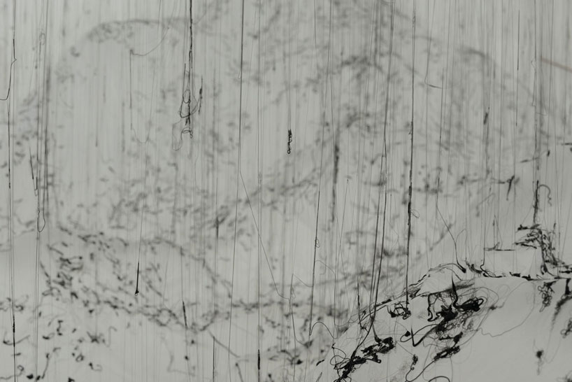 yasuaki onishi floats reverse of volume with dripping hot glue