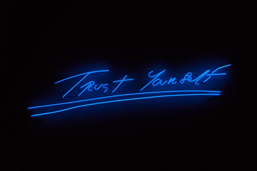 tracey emin lights up MOCA miami for angel without you