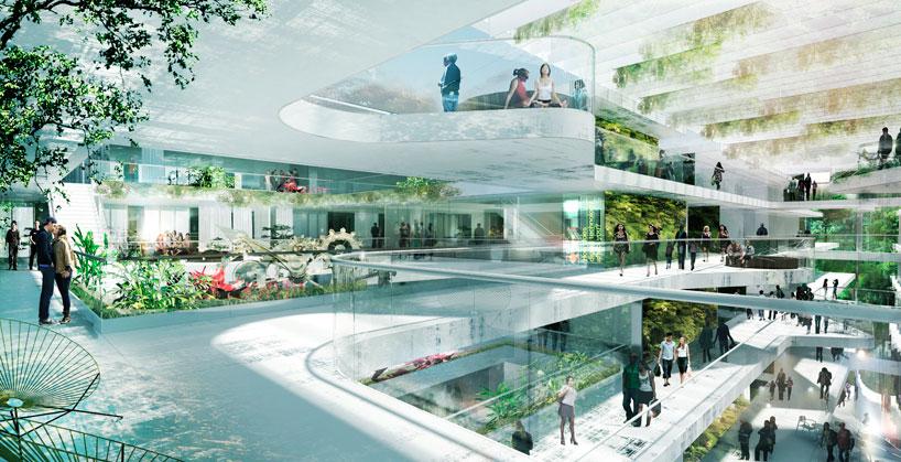 schmidt hammer lassen island school in hong kong designboom