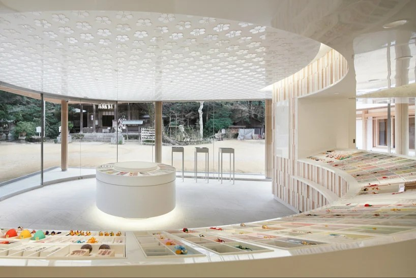 juyosho visitors center at the homangu kamado shrine by