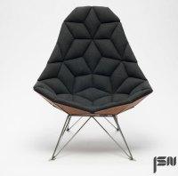 JSN design assembles diamond-shaped tiles into chair