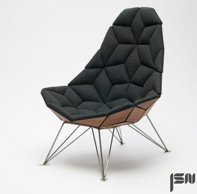 JSN design assembles diamondshaped tiles into chair