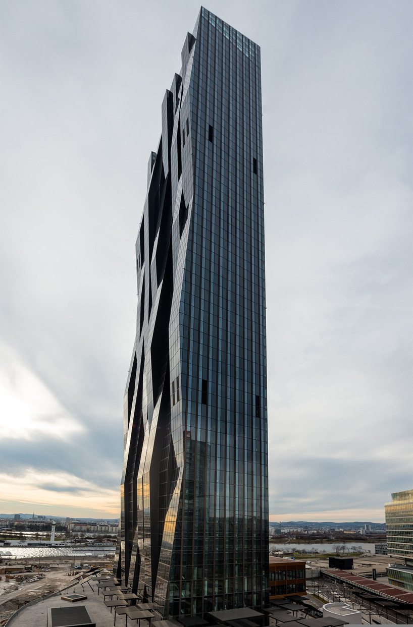 DC tower by dominique perrault rises above vienna as