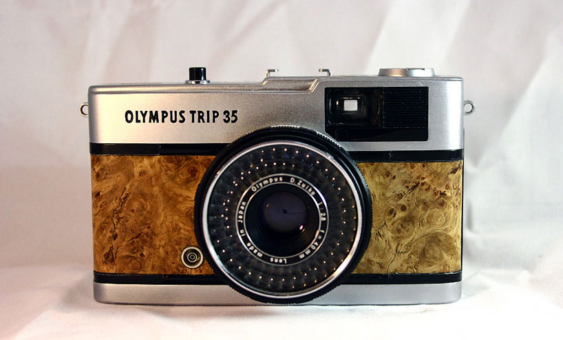 woodskin applies customized cases onto vintage analogue cameras