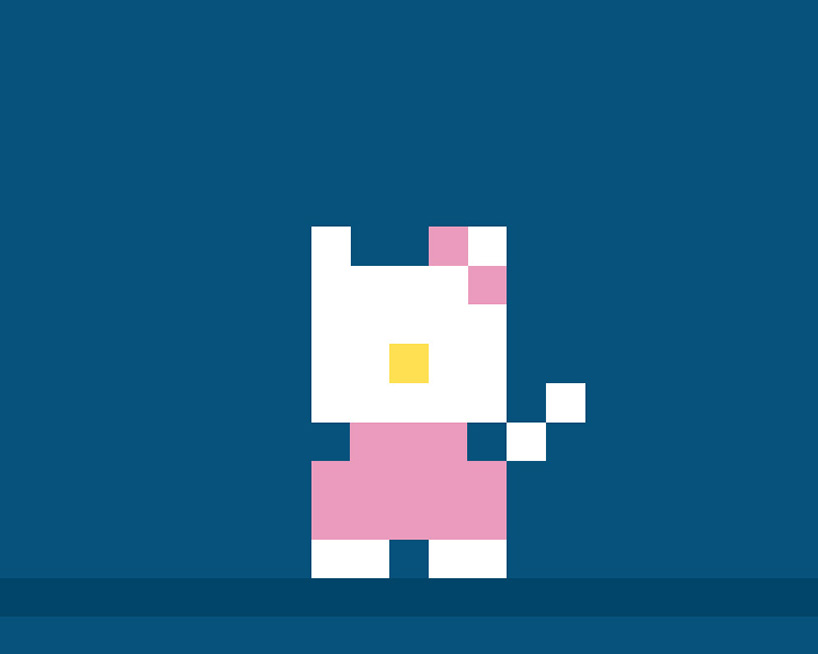 cats in the night recreates famous felines in 8bit