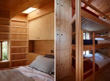 timber hut on sleds by crosson clarke carnachan architects