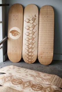 Laser Engraved Skateboard Decks Magnetic Kitchen