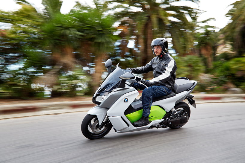 The Fully Electric Bmw C Evolution Motorcycle Utilizes