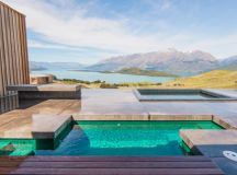 aro ha wellness retreat overlooks new zealand landscape