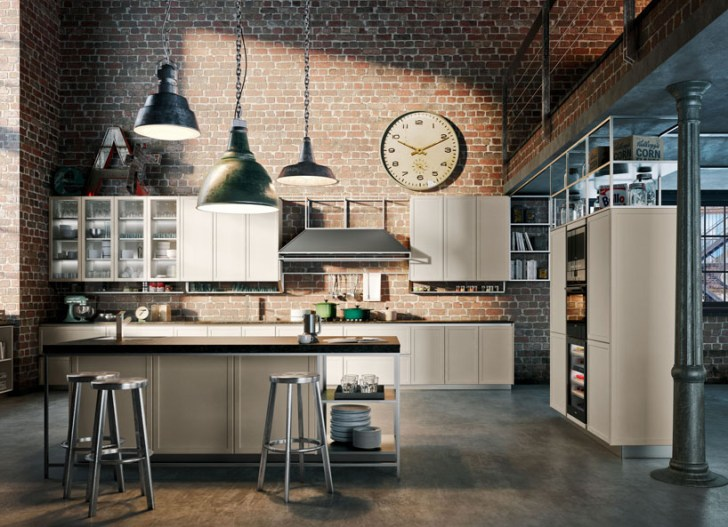 Massimo Iosa Ghini Designs Metallic Kitchen Frame Structure