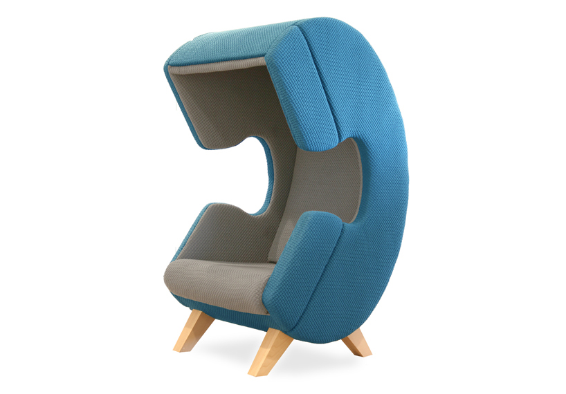 ruud van de wier shapes firstcall chair into phone for privacy