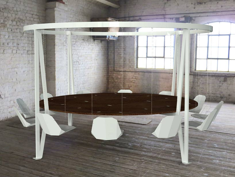 Duffy London S King Arthur Swing Table Hovers Above Ground