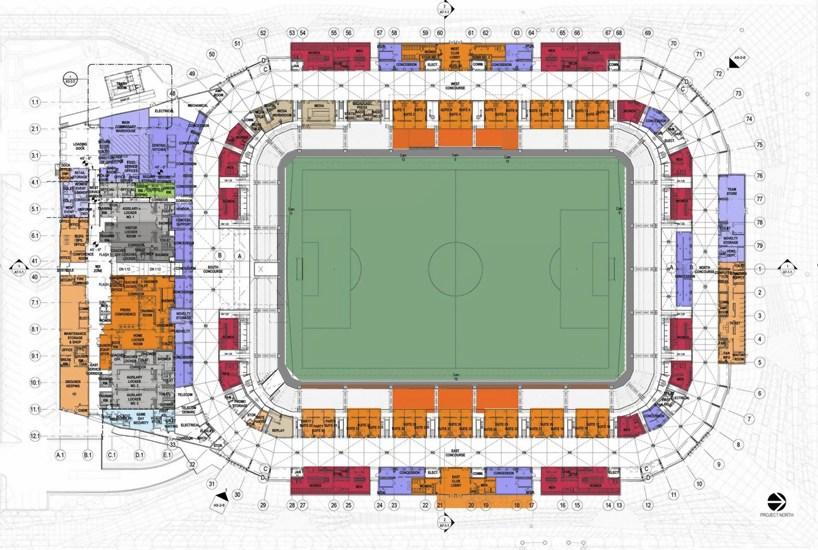 populous wraps BBVA compass stadium in houston with ...