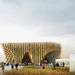 Acapulco Chair Bye Baby High Chairs Latticed France Pavilion For Milan Expo By Xtu Architects