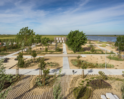 topiaris landscape architecture creates tagus linear park in portugal