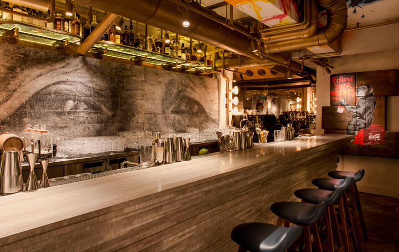 BIBO restaurant in hong kong furnished with street art