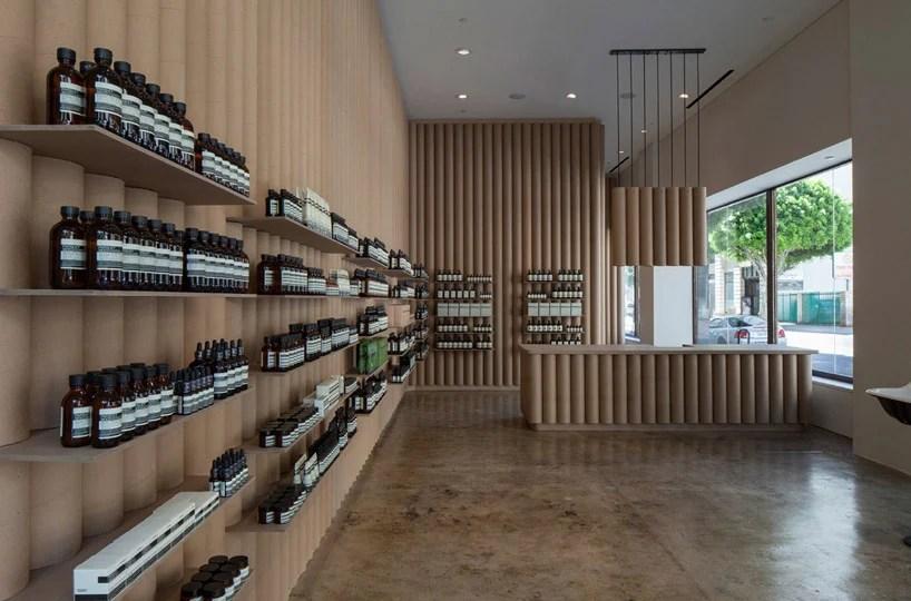 Brooks Scarpa Line Interior Of Aesop DTLA Shop With