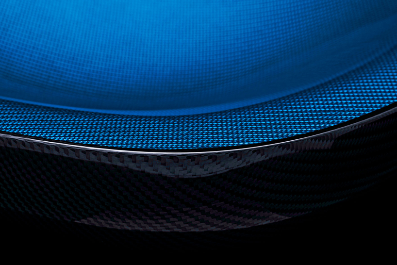 halo chair by michael sodeau uses carbon fiber developed