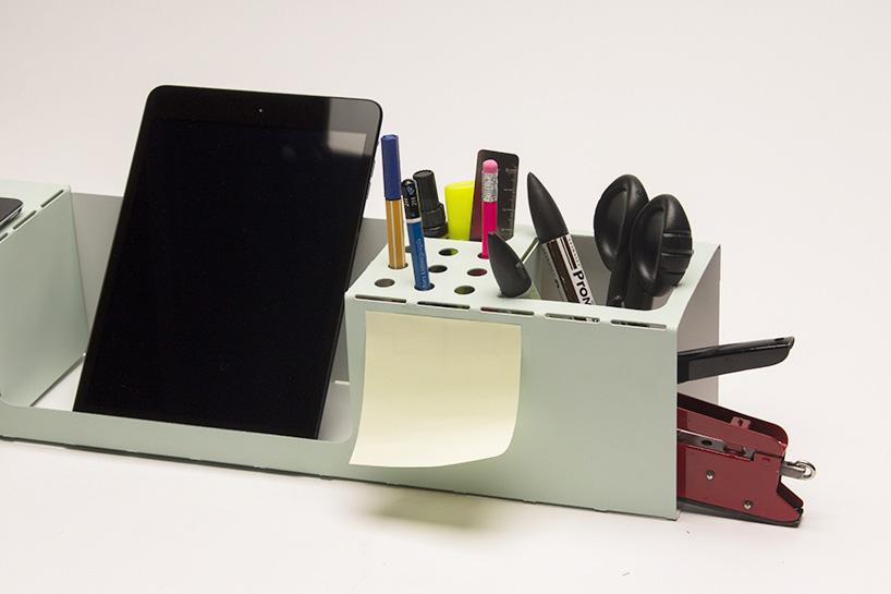 ORG a folded durable lightweight laser cut desk organizer