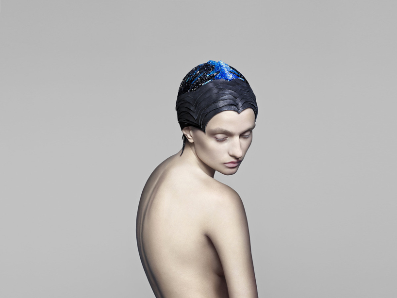 THE UNSEEN visualizes brain activity with color changing swarovski crystal headpiece