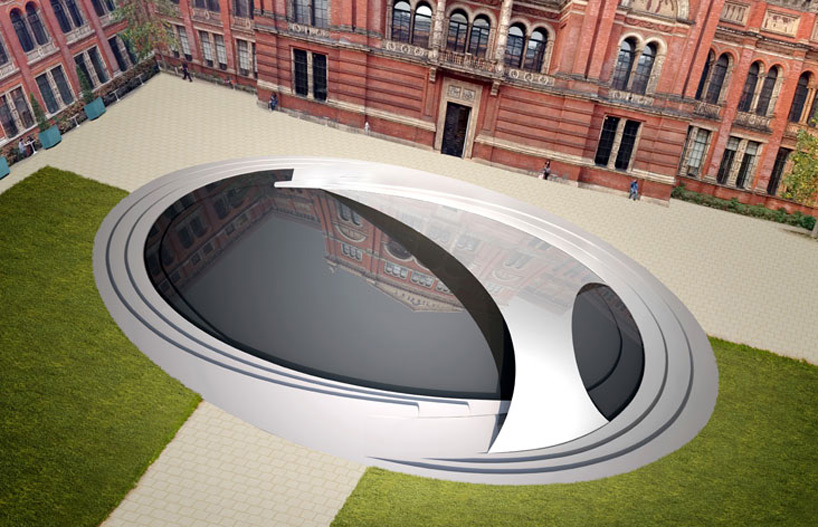zaha hadid crest pavilion to debut at london design festival