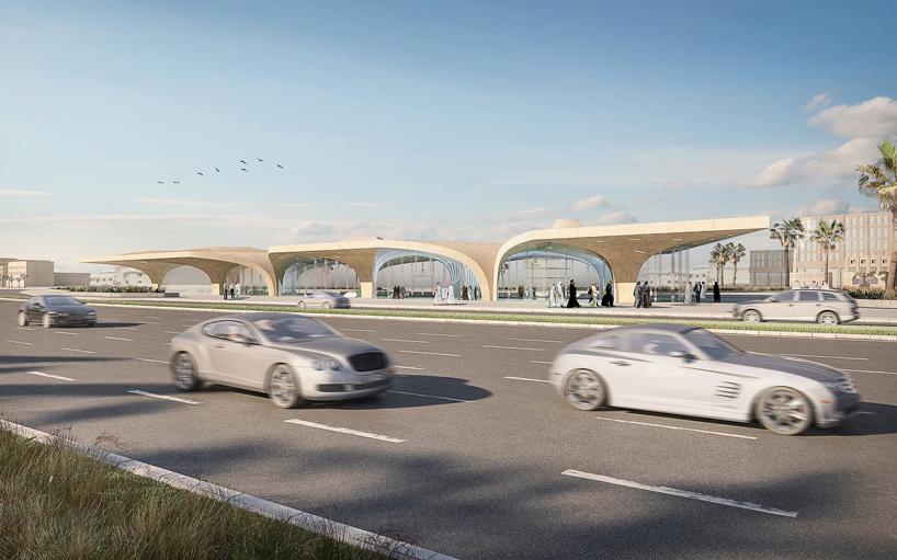 UNStudio qatar integrated railway doha metro network designboom