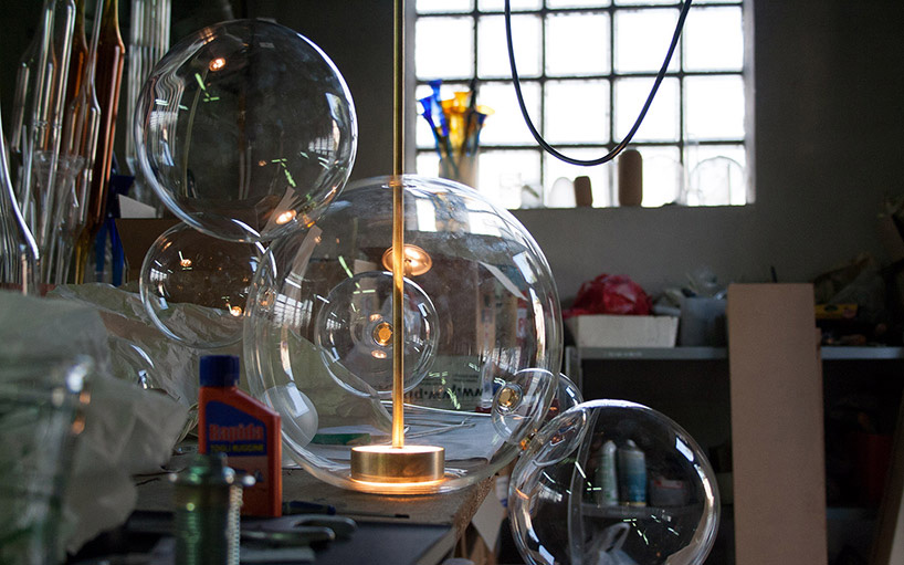 giopato  coombes inflates bubblelike glass lamp