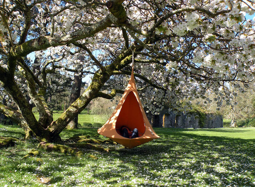 hanginouts cacoon hammock lifts you above the trees