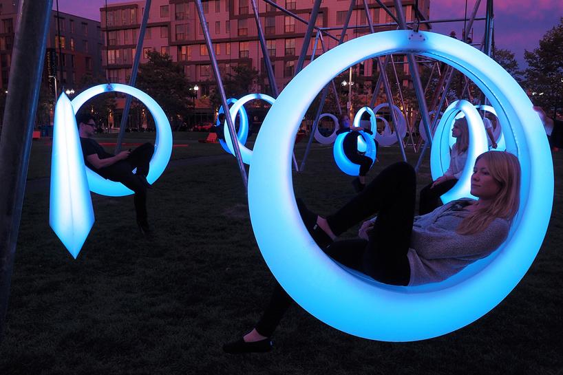 hweler  yoons swing time illuminates boston park