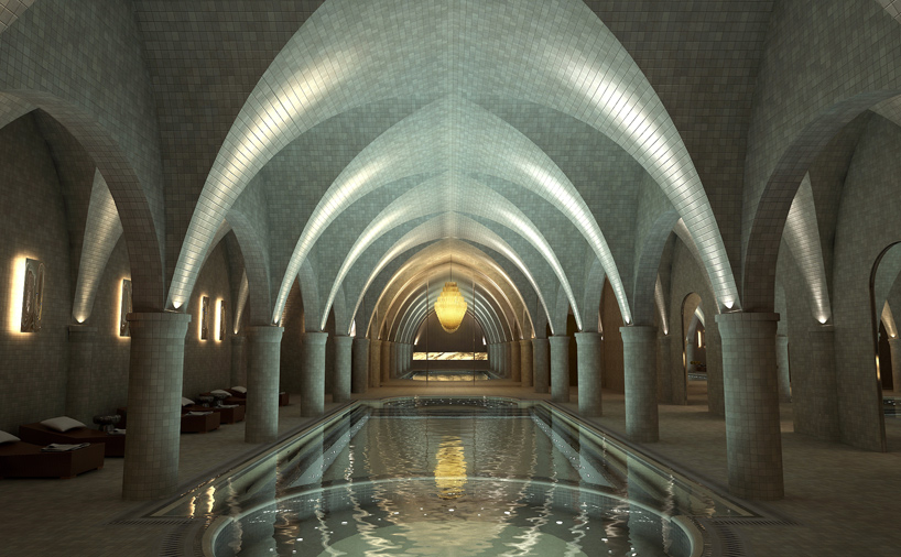 lawson robb creates private vaulted spa beneath london