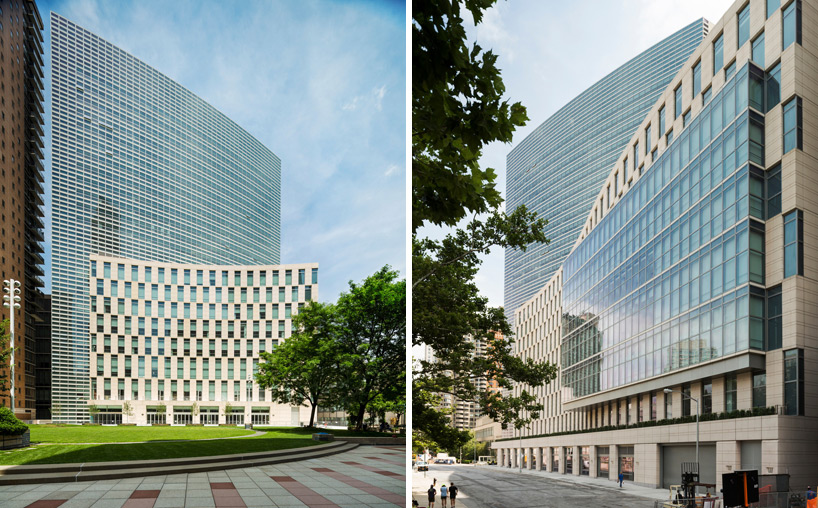new fordham law school by pei cobb freed  partners opens