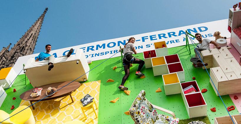 ubi bene IKEA climbing apartment wall clermont-ferrand france