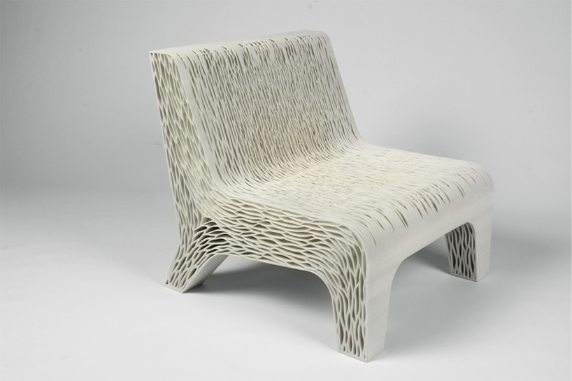 biomimicry 3Dprinted soft seat by lilian van daal