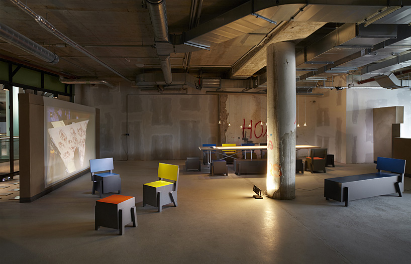 sans crafts street furniture for art center satellite